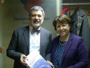 Chamber President Davide Cucino Meeting with Madame Martine Aubry