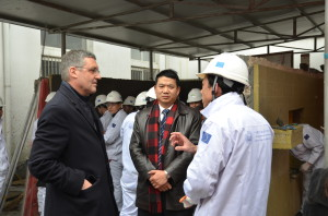 HE Ambassador Ederer visiting a SWITCH-Asia Project site