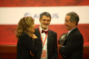 From L-R: Emma Marcegaglia, Chamber President Davide Cucino and Francois Desprairies