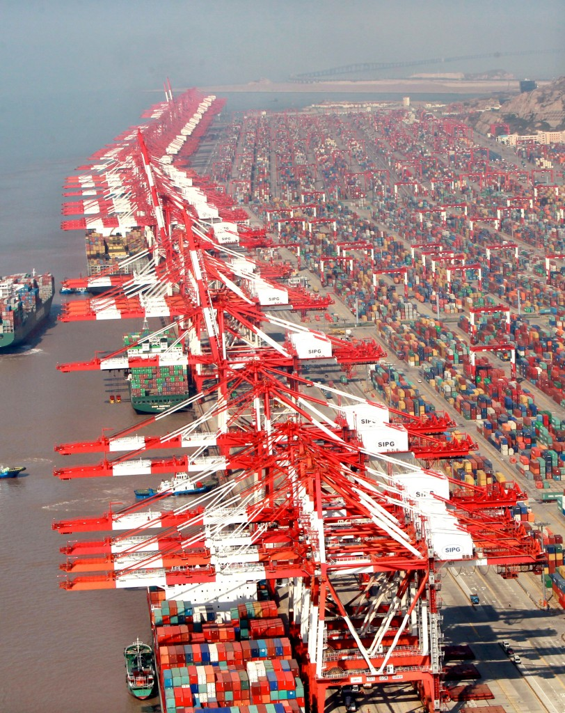 Yangshan Bonded Port's container wharf, China (Shanghai) Pilot Free Trade Zone