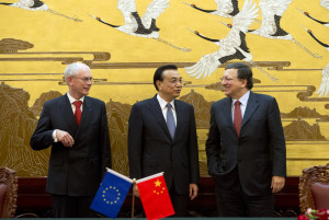 Herman van Rompuy, Li Keqiang and José Manuel Barroso (from left to right)