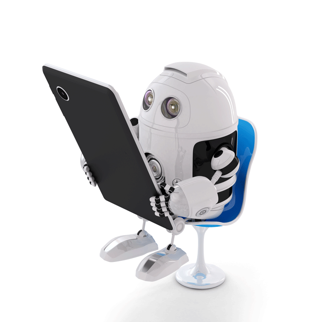 robot-with-phone